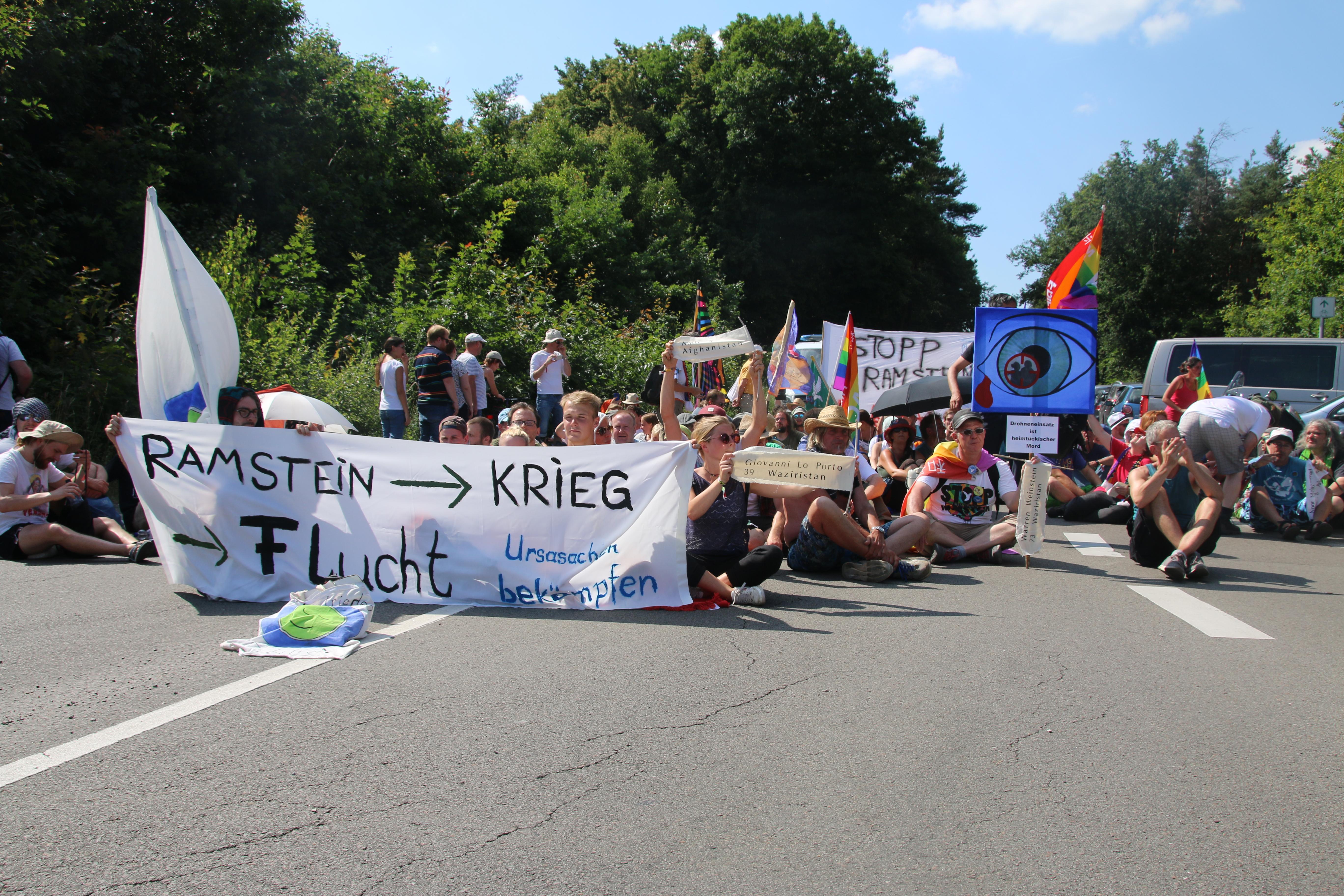 Blockade in Ramstein