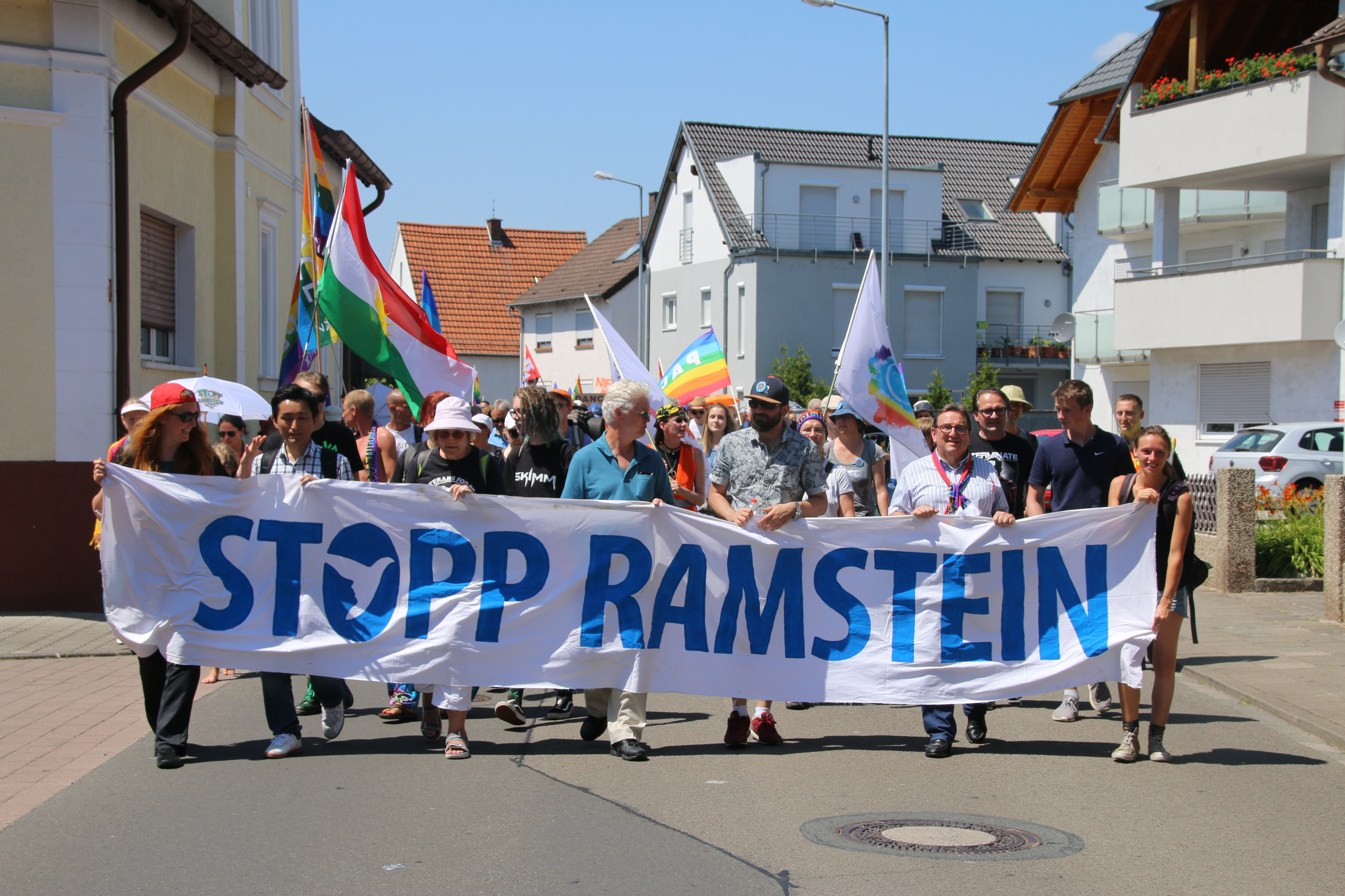 Protest in Ramstein 1